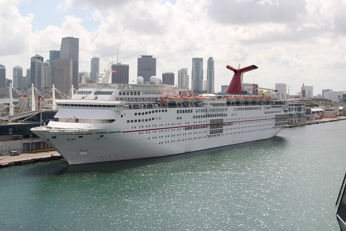 photos carnival sensation in miami   cruise industry news