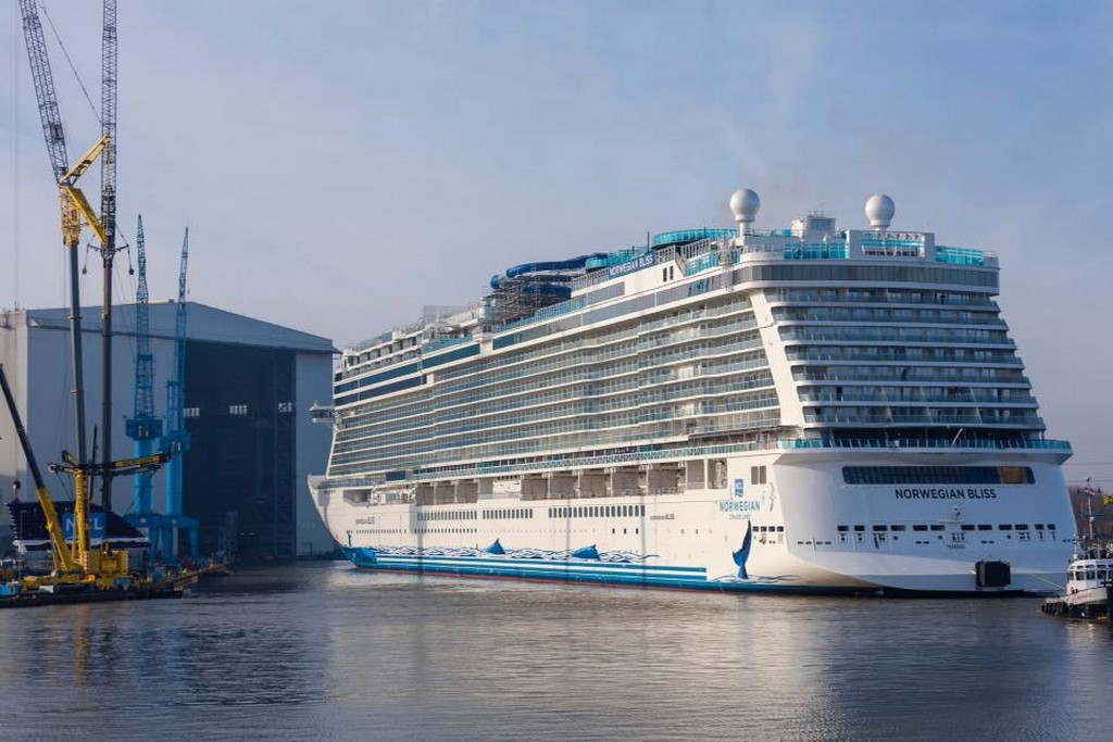 Norwegian Bliss Floated Out In Germany Cruise Industry