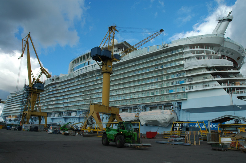 The Allure of the Seas under construction in Turku