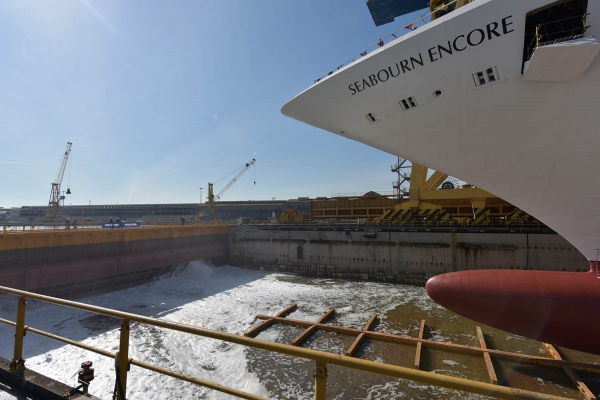 Seabourn Encore Launched at Fincantieri's Marghera Yard