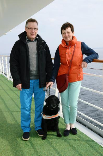 First Guide Dog Goes on an AIDA Cruise