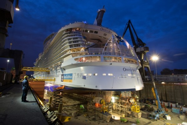 Oasis of the Seas Receives Upgrades in Drydock