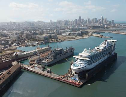 Port Of San Francisco Extends ShipyardRepair Another Years - Cruise ship terminal in san francisco