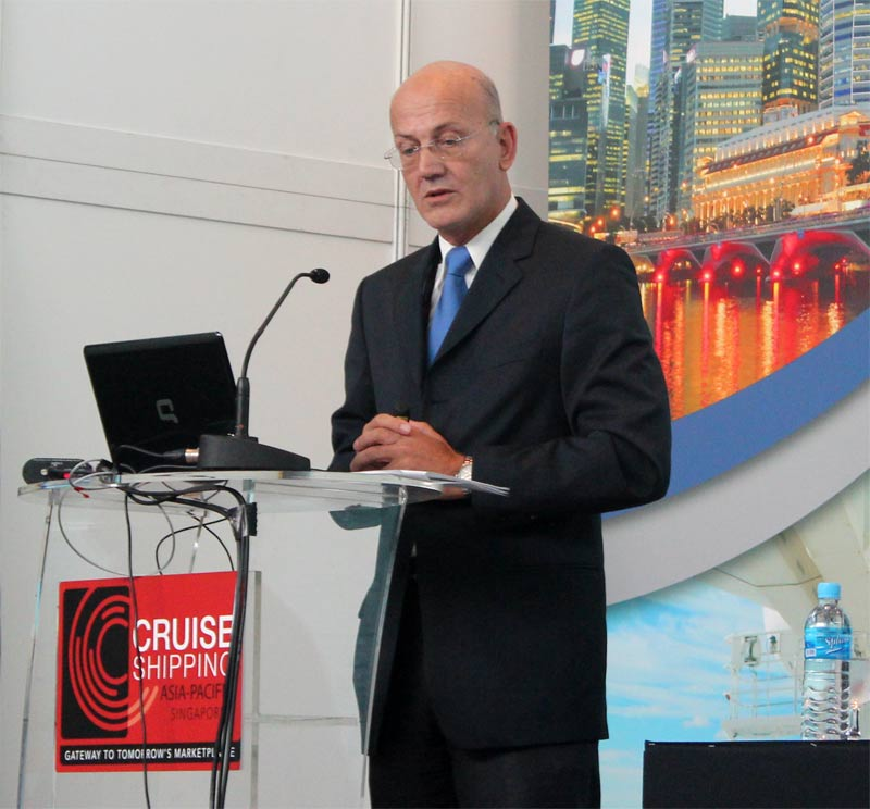 Peter Fetten, senior vice president of corporate ship refit for Carnival Corporation