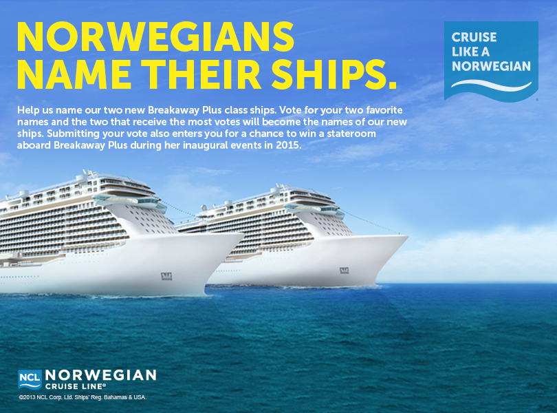 Norwegian Launches New Ship Naming Contest Cruise Industry News - Names for cruise ships