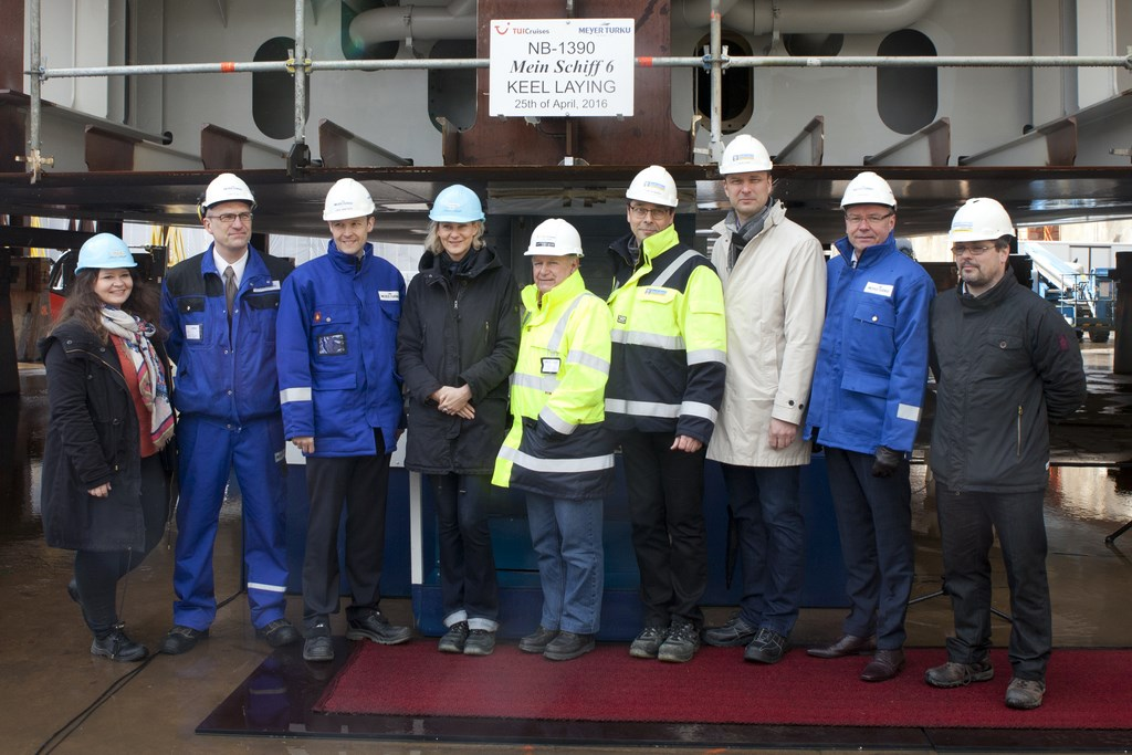 Meyer Turku: Keel-Laying for Mein Schiff 6