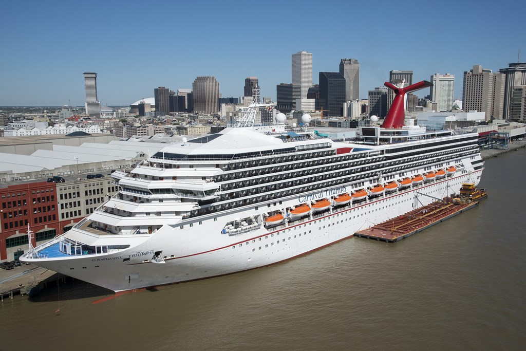 The Carnival Triumph at the Port of New Orleans