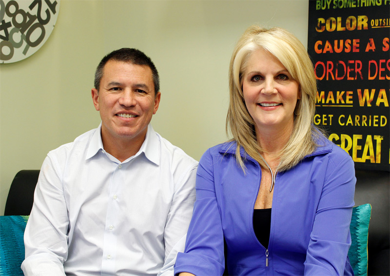 Pictured: Andy Stuart, President of Norwegian Cruise Line and Michelle Fee, CEO of Cruise Planners.