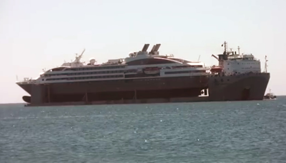 Boreal Heading To Europe For Repair On HeavyLift Vessel Cruise - How heavy is a cruise ship