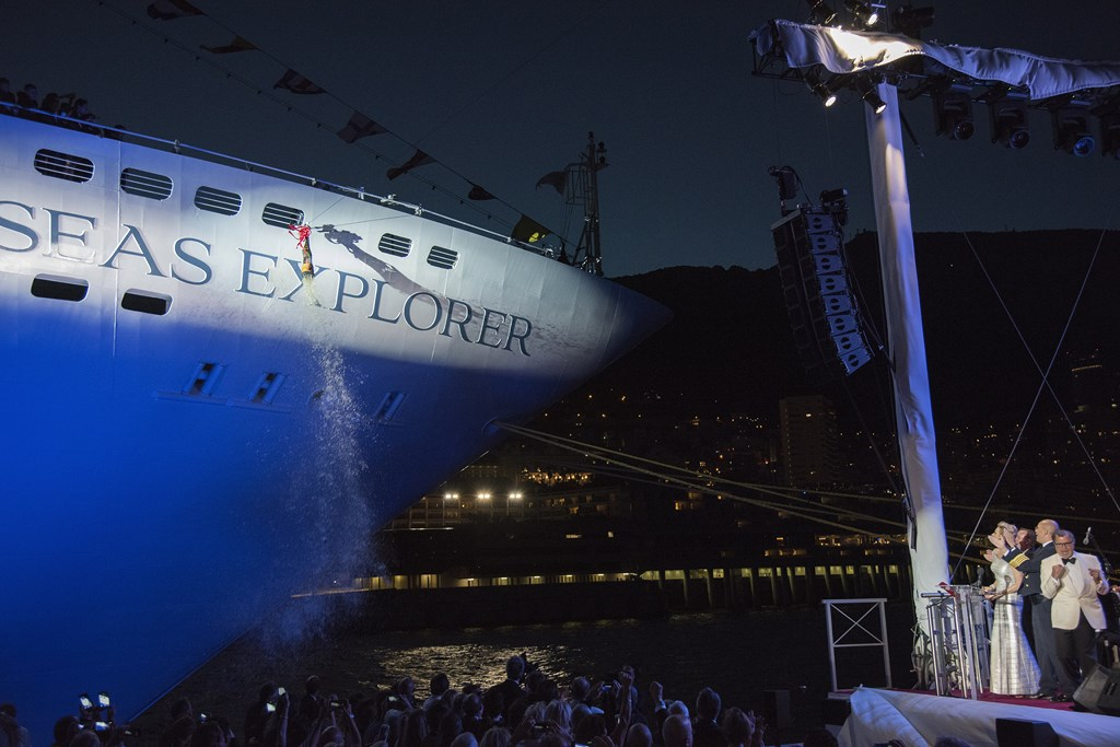Regent Explorer Christened in Monaco
