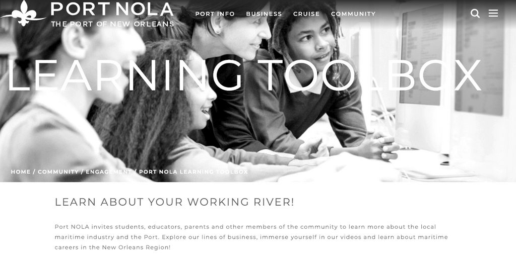 Port NOLA Learning Toolbox