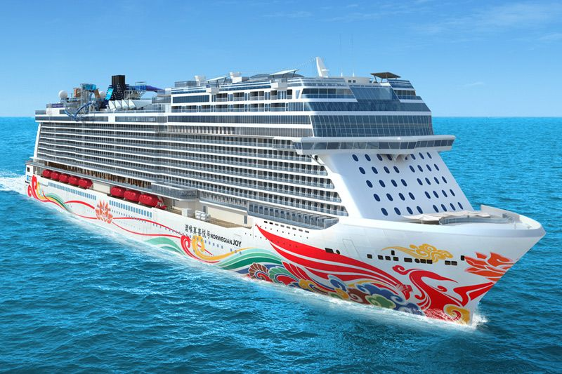 Chinese Hull Art for China-Bound Norwegian Joy