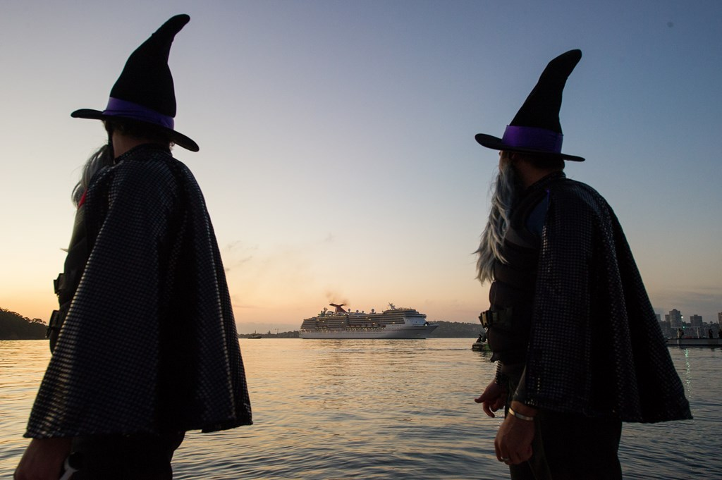 Witches Greet Carnival Spirit In Sydney For Halloween Cruise Industry News Cruise News