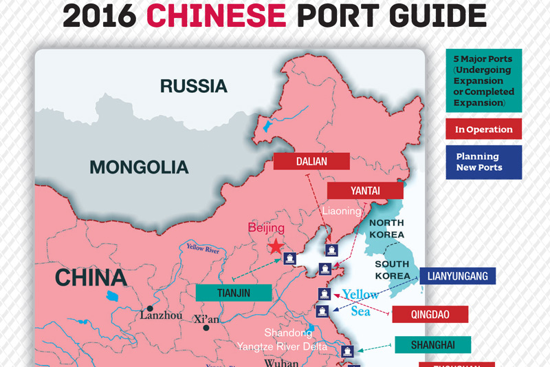 Cruise Industry News 2016 Map Guide To Chinese Ports