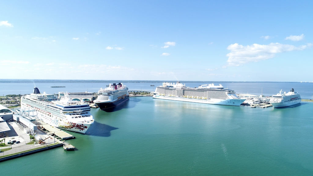 4 Cruise Ships at Port Canaveral