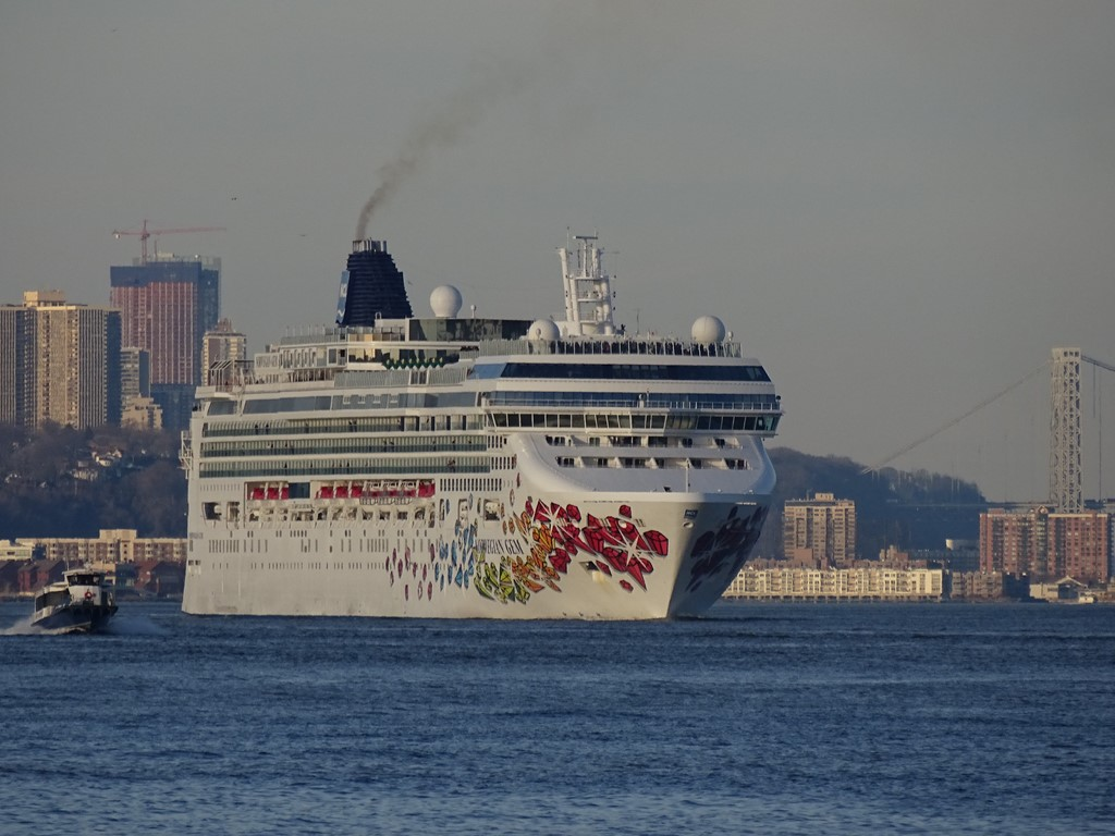 Photos Norwegian Gem Departs NYC Cruise Industry News Cruise News - What cruise ships leave from nyc