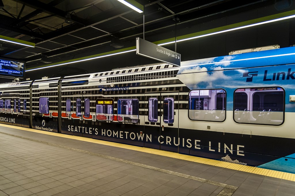 Holland America Wraps Seattle Light Rail Trains Cruise