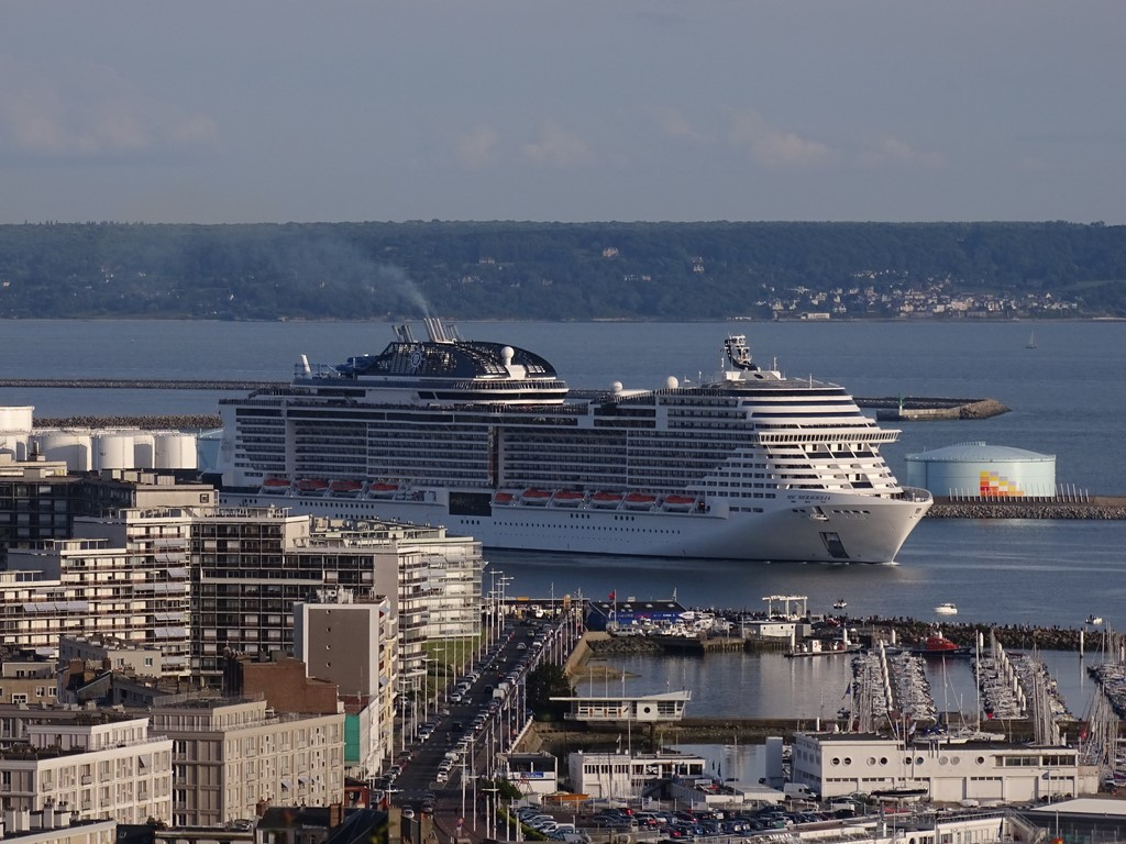 Msc Meraviglia Departs From Le Havre Cruise Industry News Cruise News