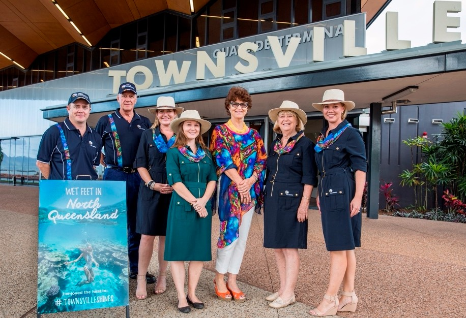 Port Of Townsville Unveils New Staff Uniform For Cruise Ship - Staff on a cruise ship