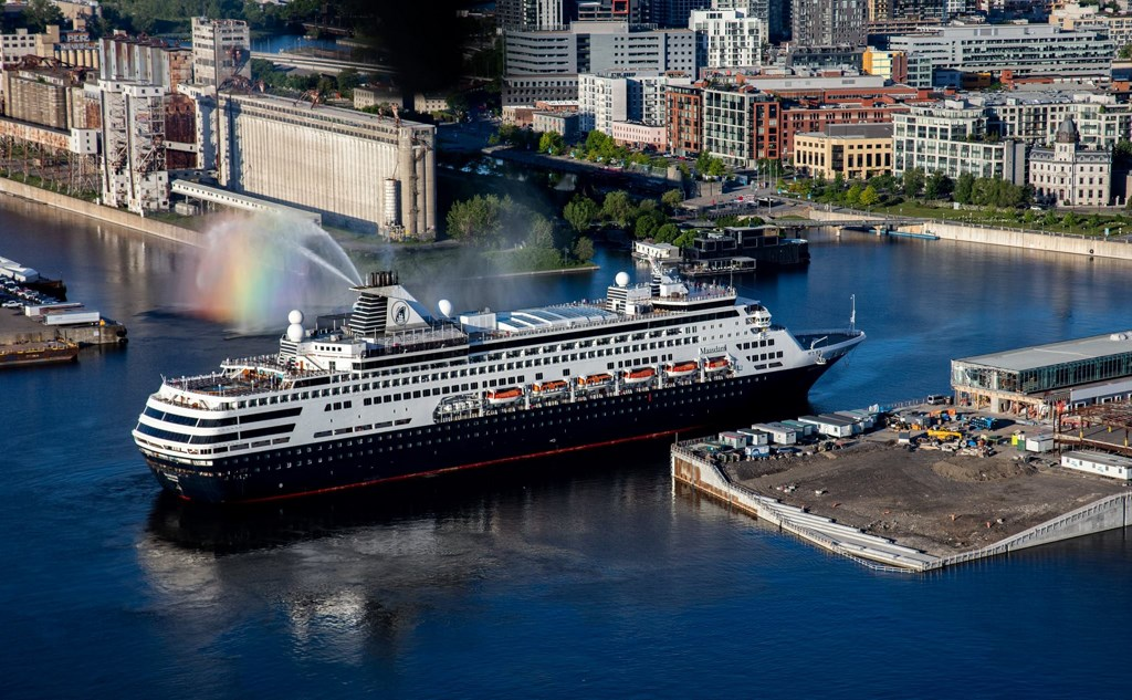 Holland America Line ship docks in Montreal