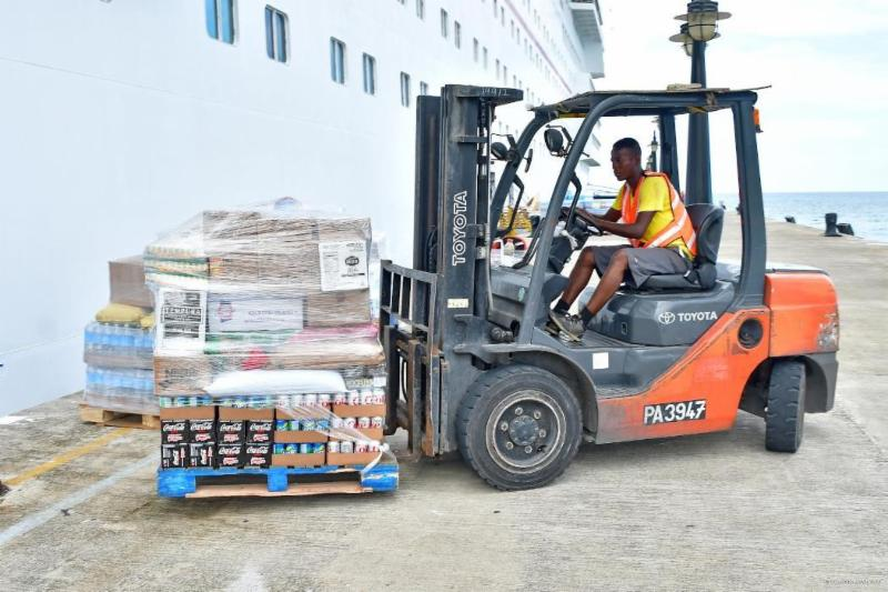 St. Kitts Supply Loading