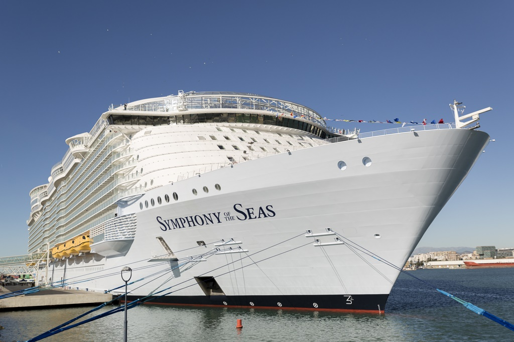 symphony of the seas calls in malaga and barcelona cruise industry