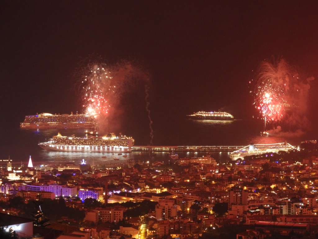 New Year's Eve Wows with 10 Ships in Funchal - Cruise Industry News | Cruise News