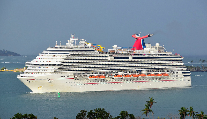 Carnival Magic on arrival into Puerto Rico