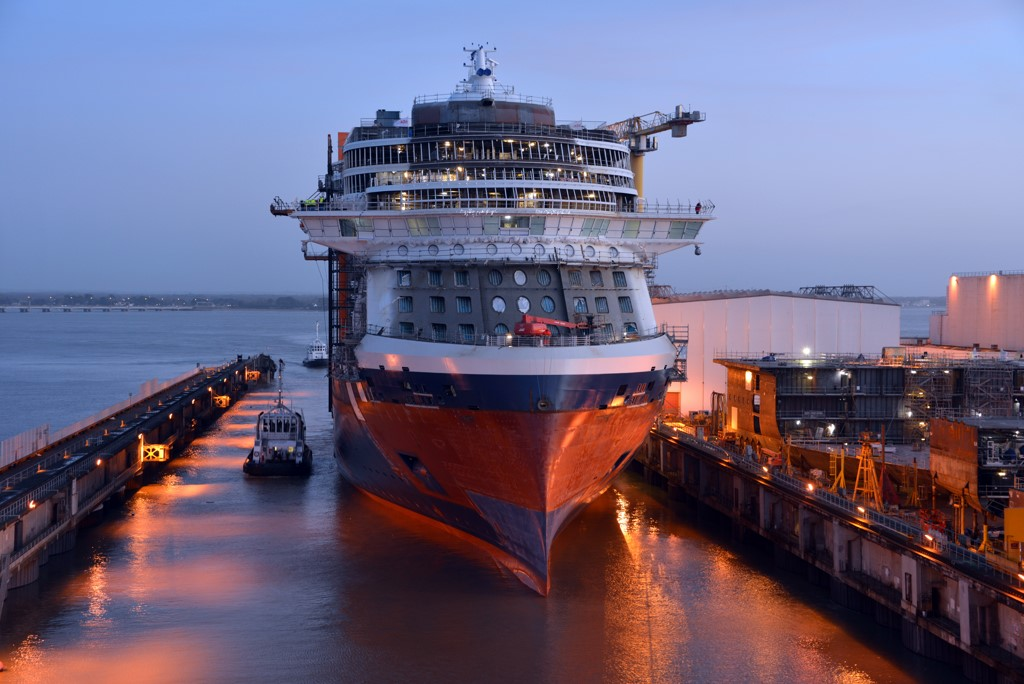 Celebrity Edge Floated Out Cruise Industry News Cruise