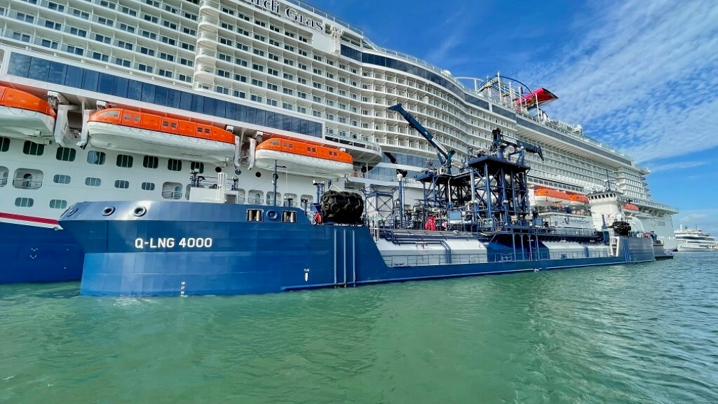 Carnival Mardi Gras Refuels with LNG for the First Time at Port Canaveral