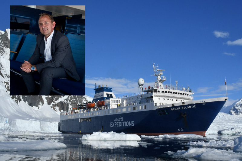 Gorm Pedersen, managing director, and the Ocean Atlantic