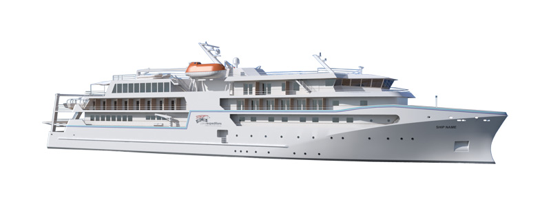 A rendering of the new Coral Adventurer, which will have capacity for 120 guests.