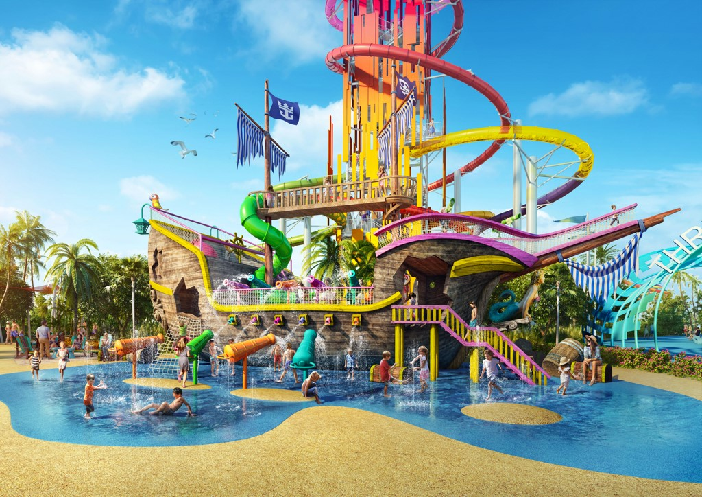 Royal Caribbean To Build Huge Waterpark At Cococay