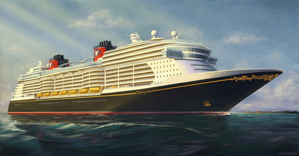 New ship exterior is classic Disney, with a few more curves