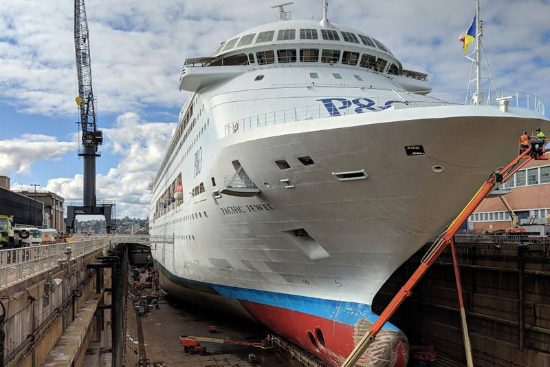 Pacific Jewel in Drydock