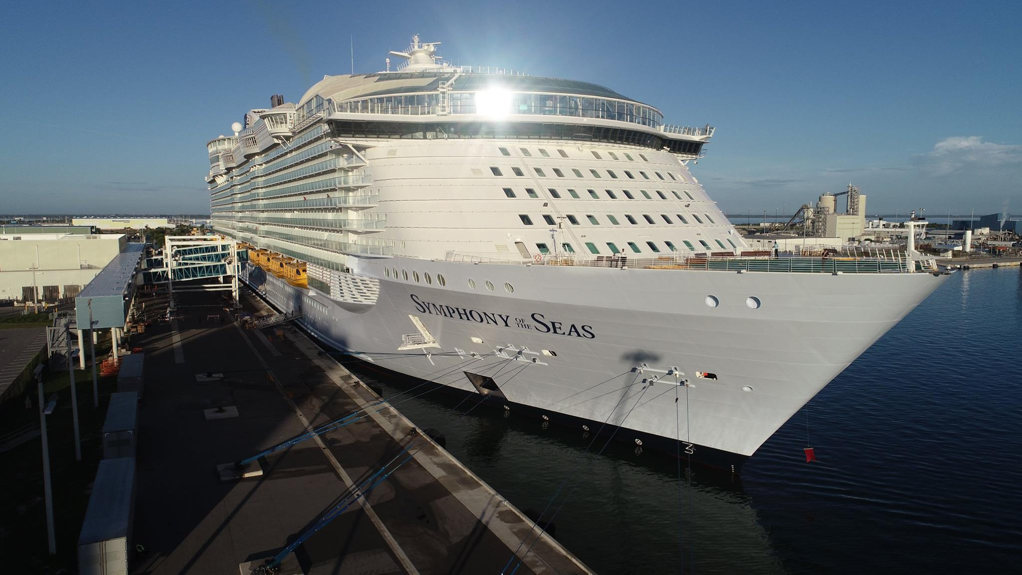 World's largest cruise ship docks at Port Canaveral