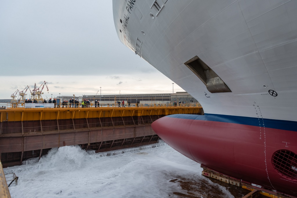 Carnival Panorama Floated Out At Fincantieri Cruise