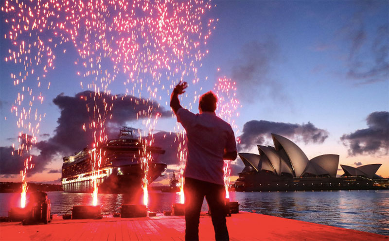 Curtis Stone Welcomes Ruby Princess to Australia