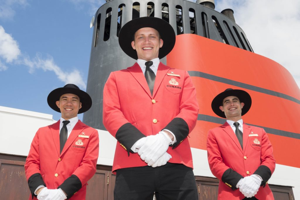 Cunard Marks Record Season Down Under with New Bell Boy Uniforms