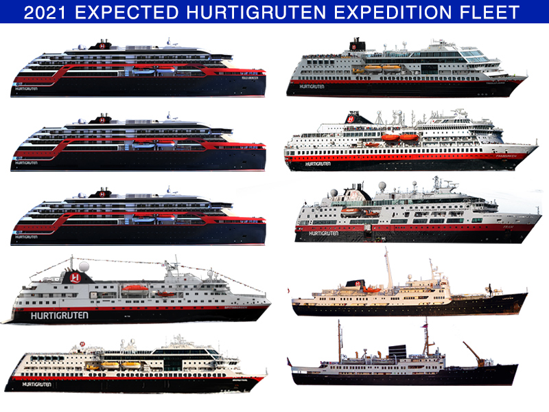Hurtigruten Fleet