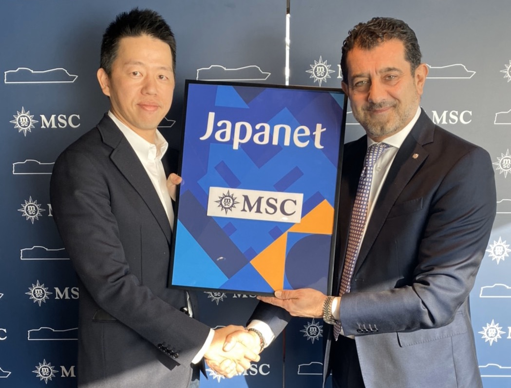 Akito Takata, President and CEO, Japanet Holdings and Gianni Onorato, CEO MSC Cruises