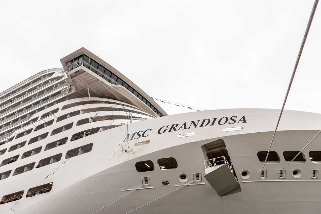MSC Grandiosa Delivered - Cruise Industry News | Cruise News