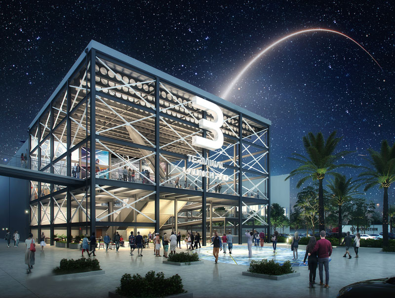 A rendering of the new Cruise Terminal 3