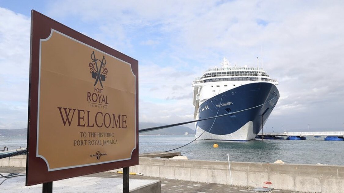 First Cruise Ship Docks at Jamaica's New Port Royal