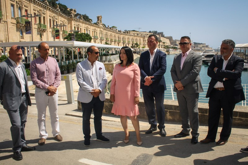 Bespoke canopies complementing Grand Harbour's historic environment inaugurated