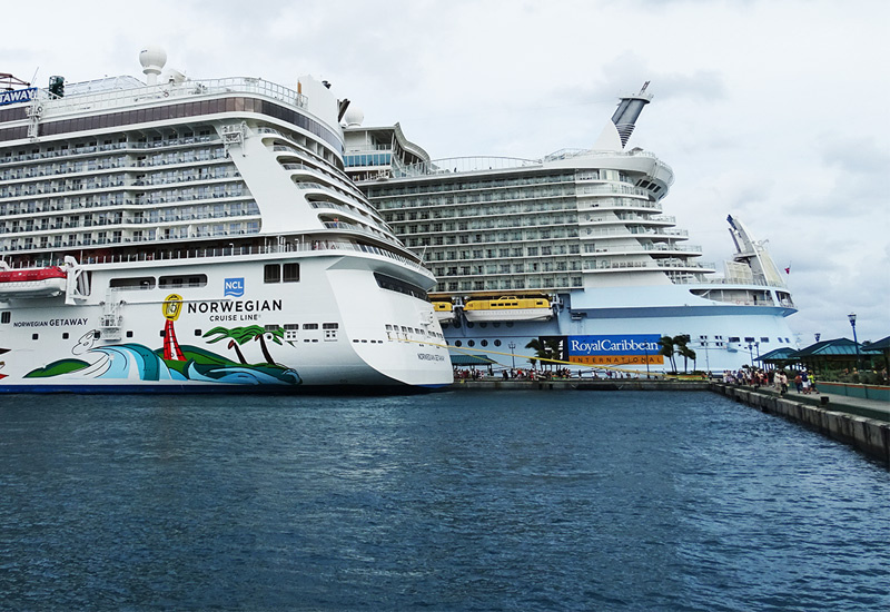 Norwegian and Royal Caribbean Ships in Nassau