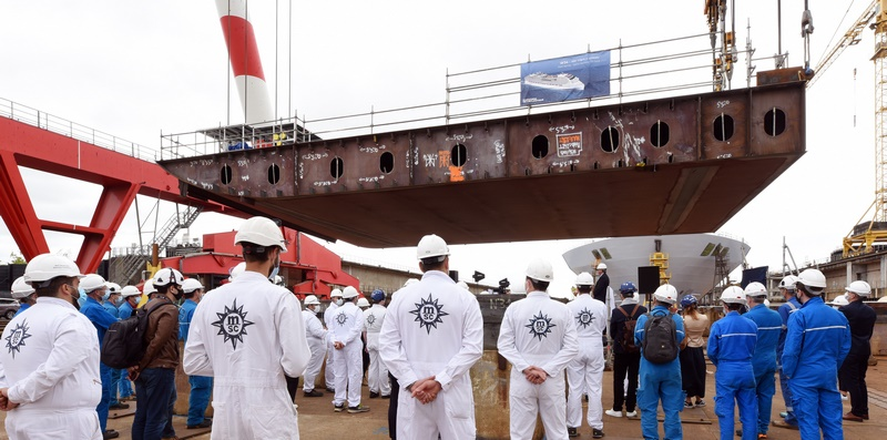 Coin Ceremony and Keel Laying for the MSC Europa (Photo: Bernard Biger, Chantiers de l'Atlantique)
