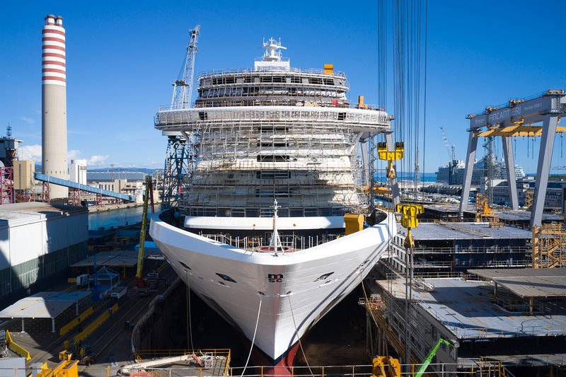 The MSC Seashore Under Construction at Fincantieri