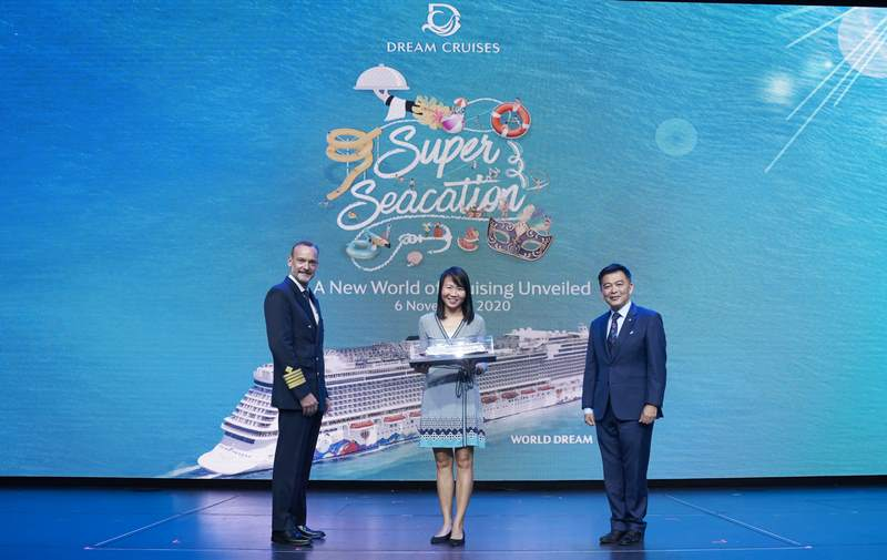 From R to L: Mr. Michael Goh, President of Dream Cruises, Ms Annie Chang, Director, Cruise, Singapore Tourism Board and Captain Robert Bodin of World Dream