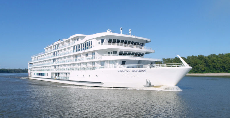 American Cruise Lines' Modern Riverboat, the AmericanHarmony